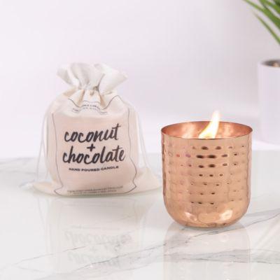 Duftkerze mit Kokosnuss und Schokolade
