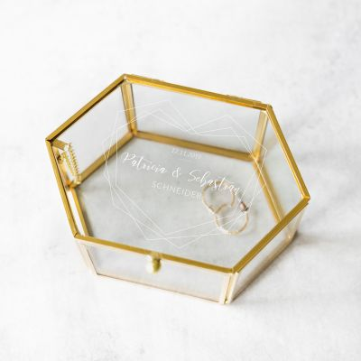 Personalisierbare Glasbox zur Hochzeit
