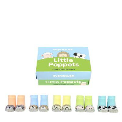 Tierisch süße Baby-Socken 5er-Set