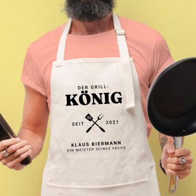 Küchenschürze Grillkönig