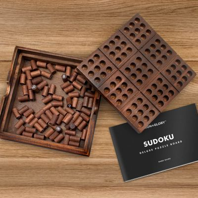 Sudoku Puzzle aus Holz
