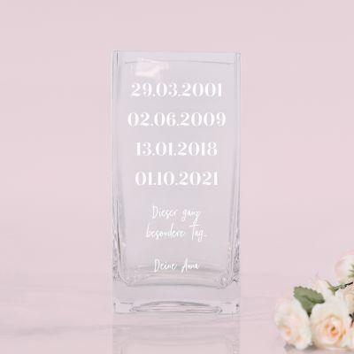 Vase Wichtige Daten