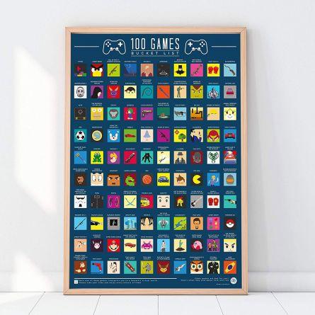 Rubbel-Poster 100 Spiele
