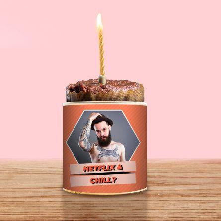 Cancake mit Bild und Text