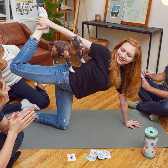 Ziegen-Yoga Partyspiel