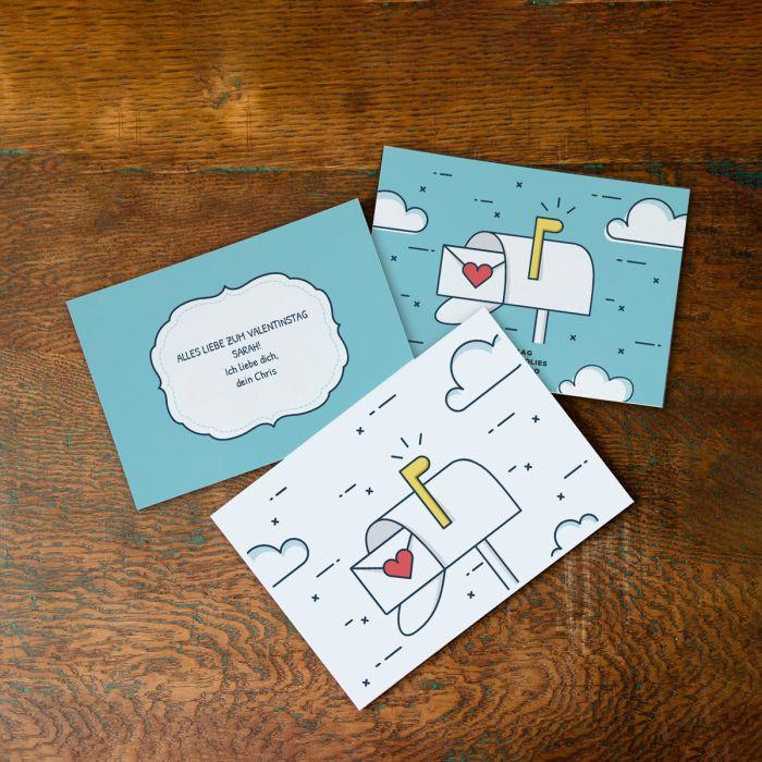 Liebespost mit Karte und Text