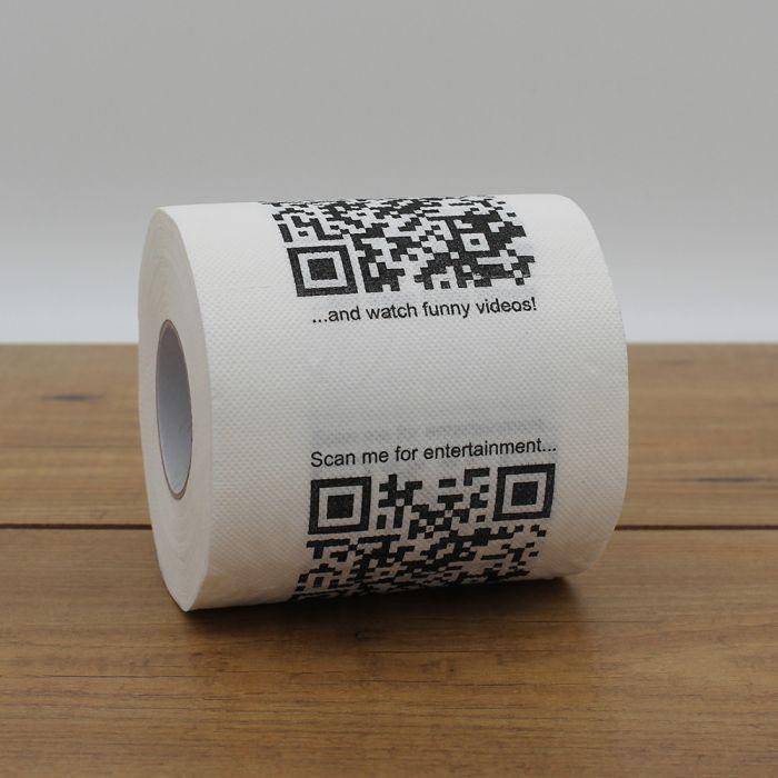 Toilettenpapier mit QR-Codes