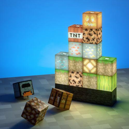 Minecraft Block Leuchte mit 16 Elementen