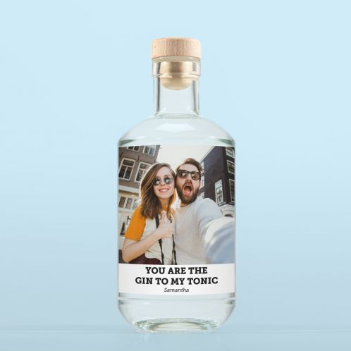 Gin mit Bild und Text