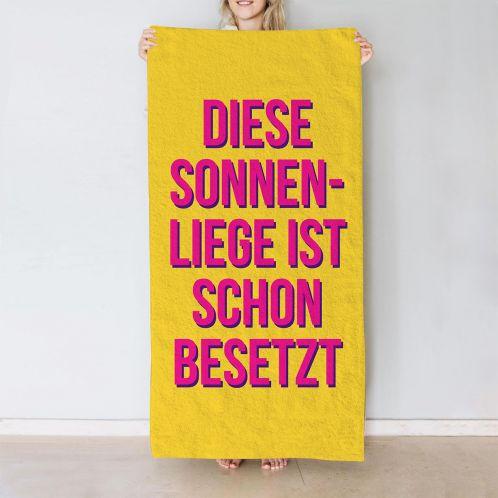 Farbiges Handtuch mit 5 Zeilen