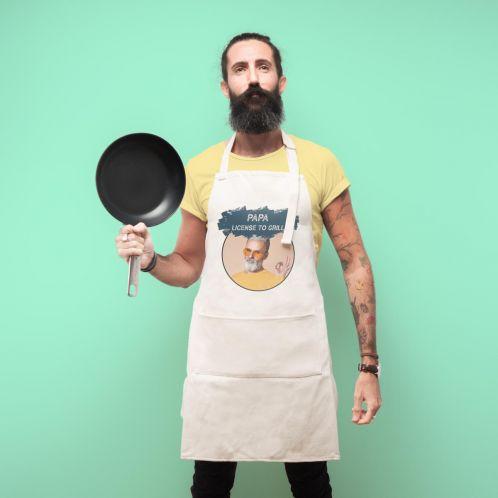 Personalisierbare Küchenschürze mit Farbe
