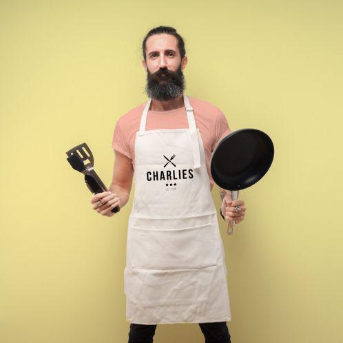 Personalisierbare Küchenschürze Master Chef