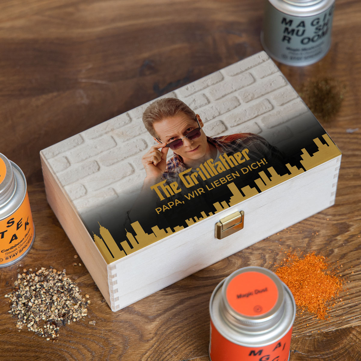 Gewürzbox Set mit Bild und Text
