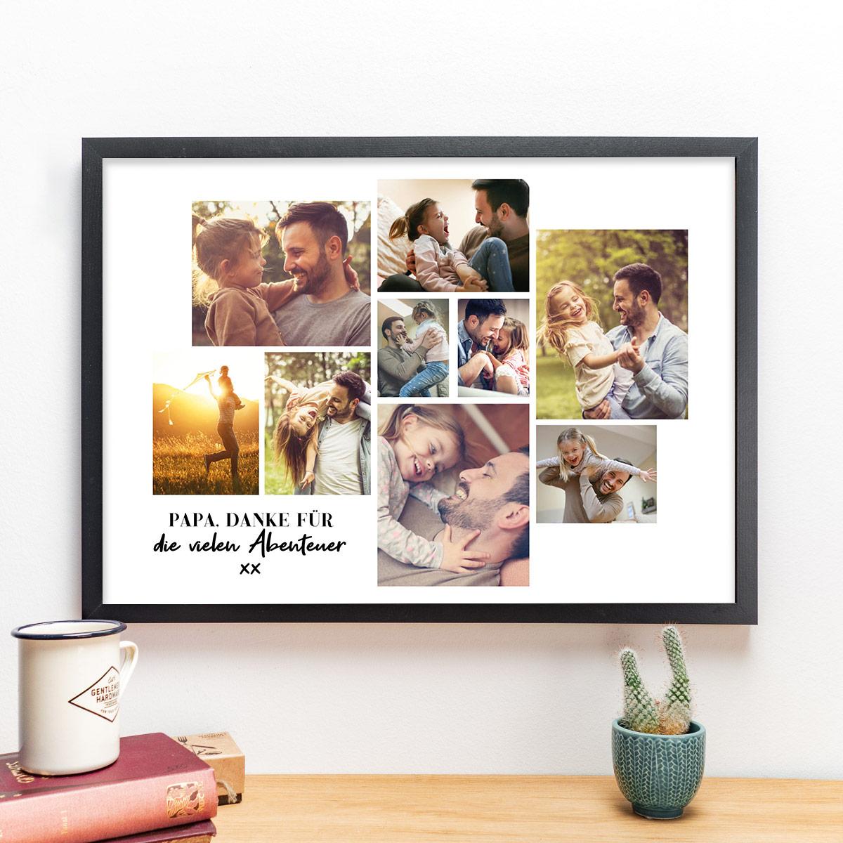 Geschenke für Papa Poster mit Bild Collage und Text