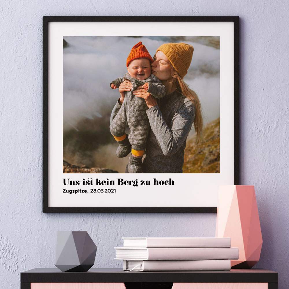 Geschenke für Mama Poster mit Bild und Text