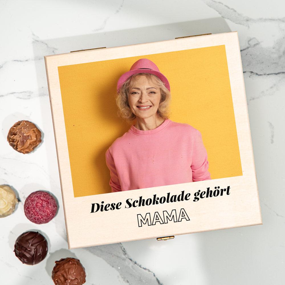 geschenke für mama pralinenbox mit foto und text