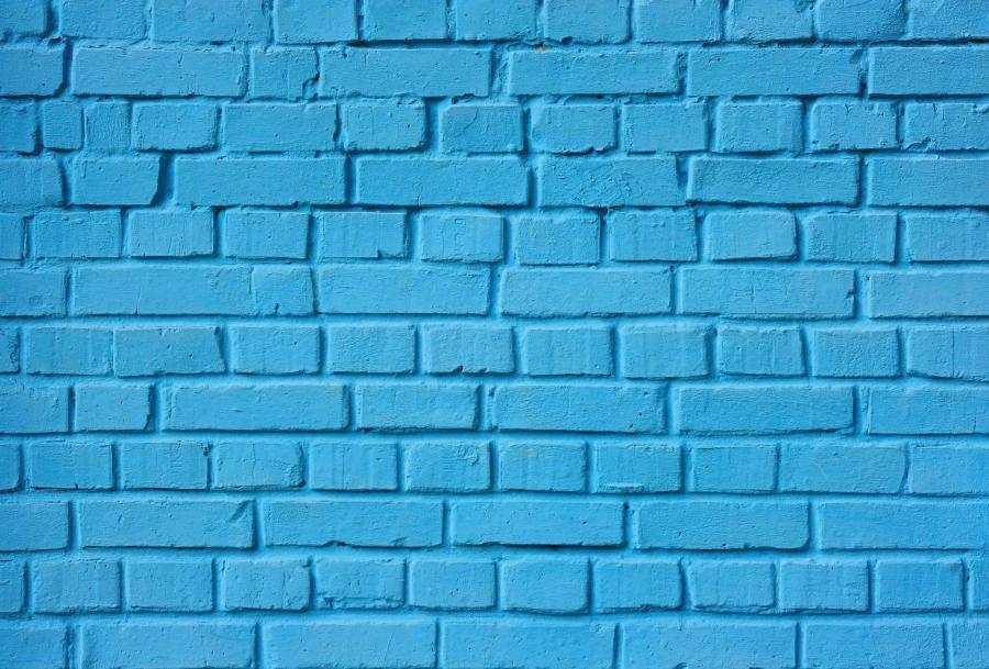 Farbige Fußmatte (FUCOXT) - Blau