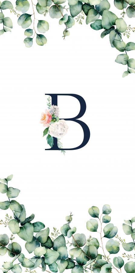 Handtuch mit Monogramm und Text (TOMOXT) - B