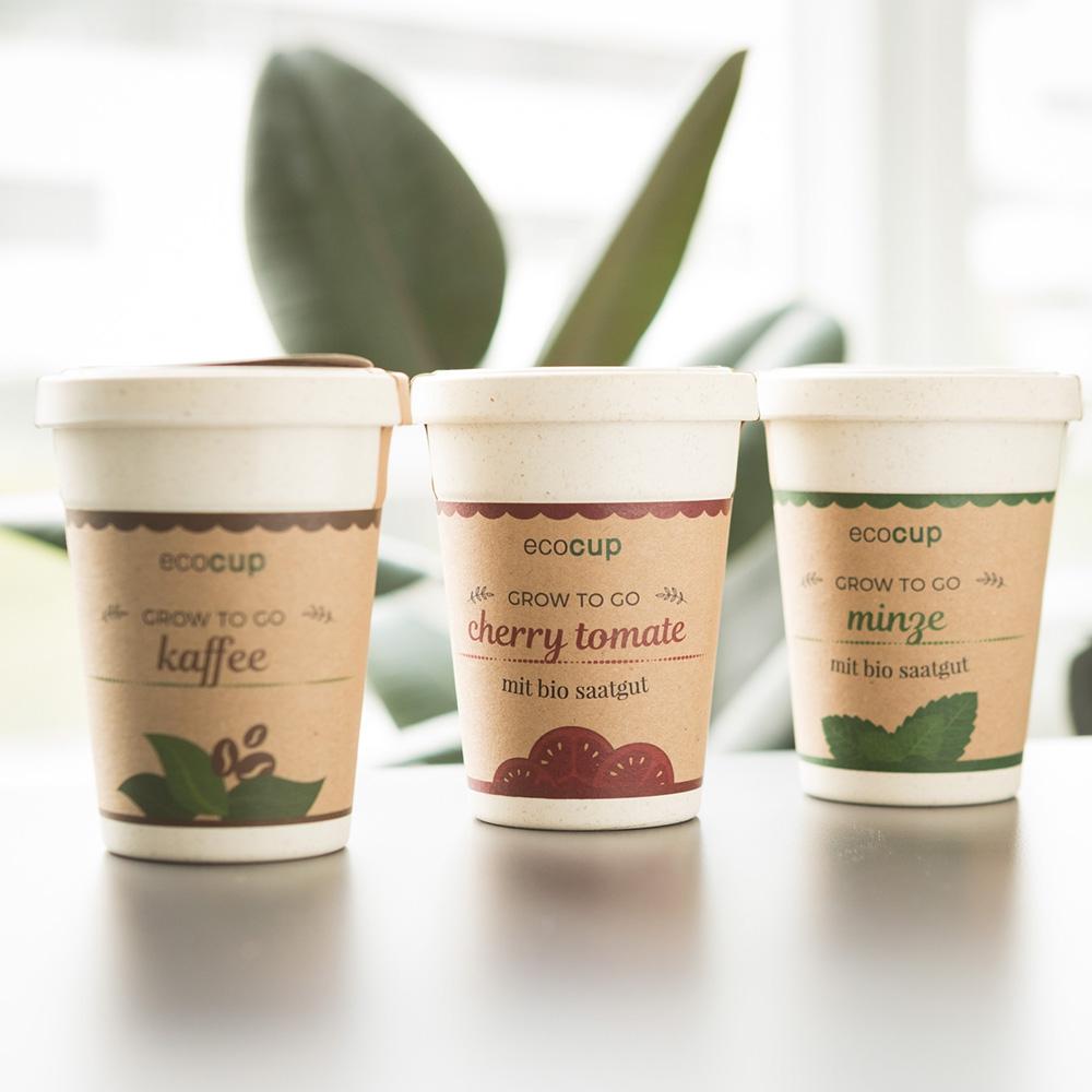 ecocup - Pflanzen im Kaffeebecher