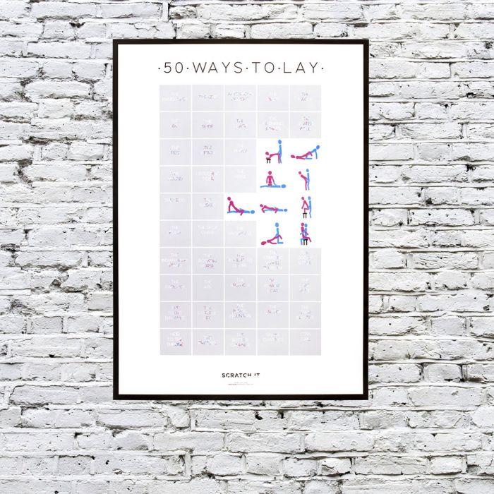 Rubbel-Poster der 50 Stellungen