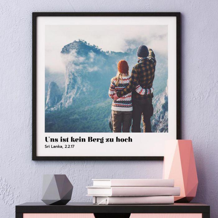 Poster mit Bild und Text