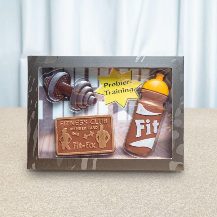 Fitness-Set aus Schokolade
