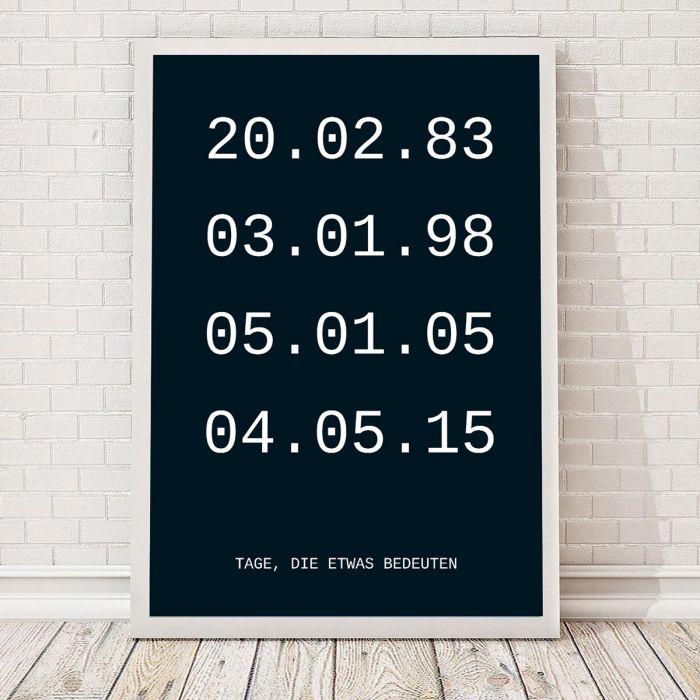 Wichtige Daten - Personalisierbares Poster
