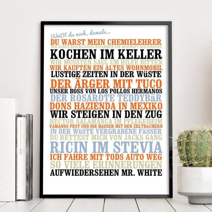 Weißt du noch, damals... - Personalisiertes Poster