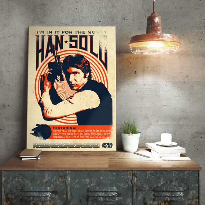 Star Wars Metallposter - Han Solo Retro