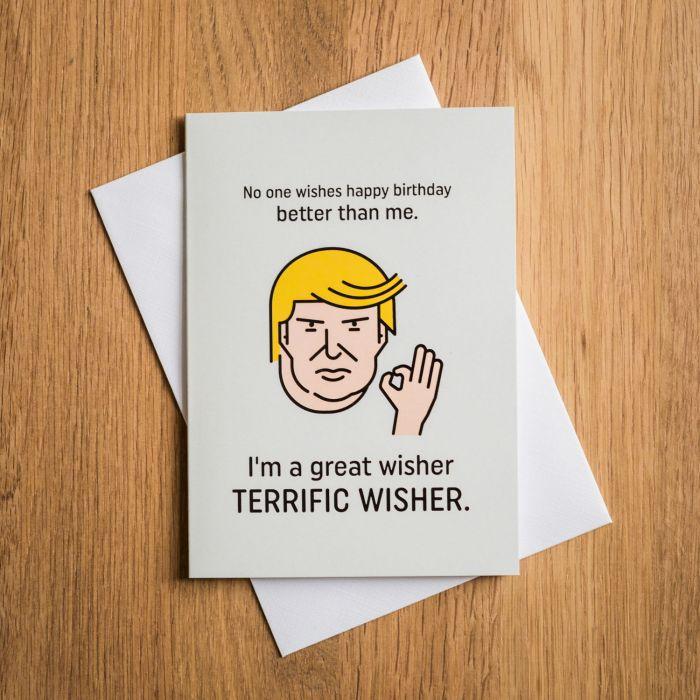 Terrific Trump Geburtstagskarte