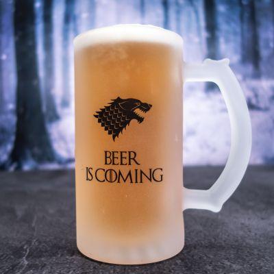 Personalisierbarer Bierkrug mit Wolf