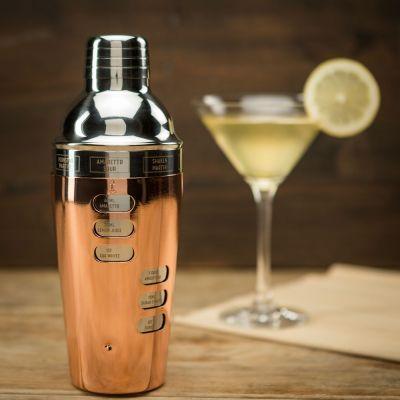 Design Cocktail Shaker mit Rezeptauswahl