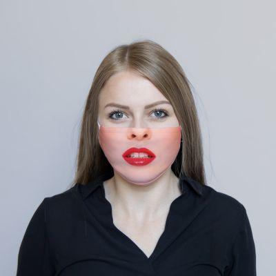 Gesichtsmaske Rote Lippen