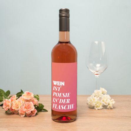 Personalisierbarer Wein mit Text