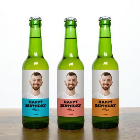 Bier Set mit Bild und Text