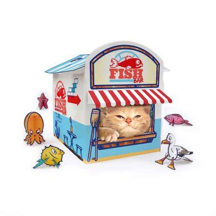 Katzen-Kiosk aus Karton