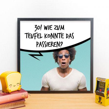 Personalisierbares Poster mit Foto und Sprechblase