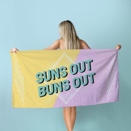 Personalisierbares Handtuch in Bunt