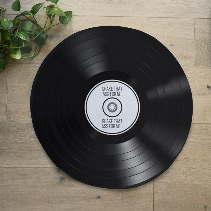 Personalisierbare Badezimmermatte Schallplatte