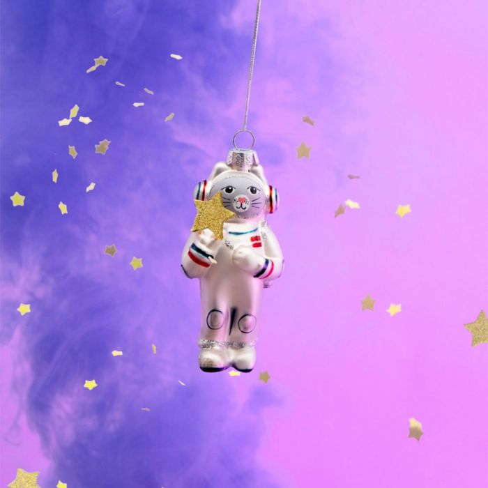 Weltraum-Katze Christbaumschmuck