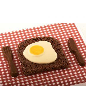 Bacon & Egg aus Schokolade