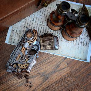 Steampunk-Pistole aus Schokolade