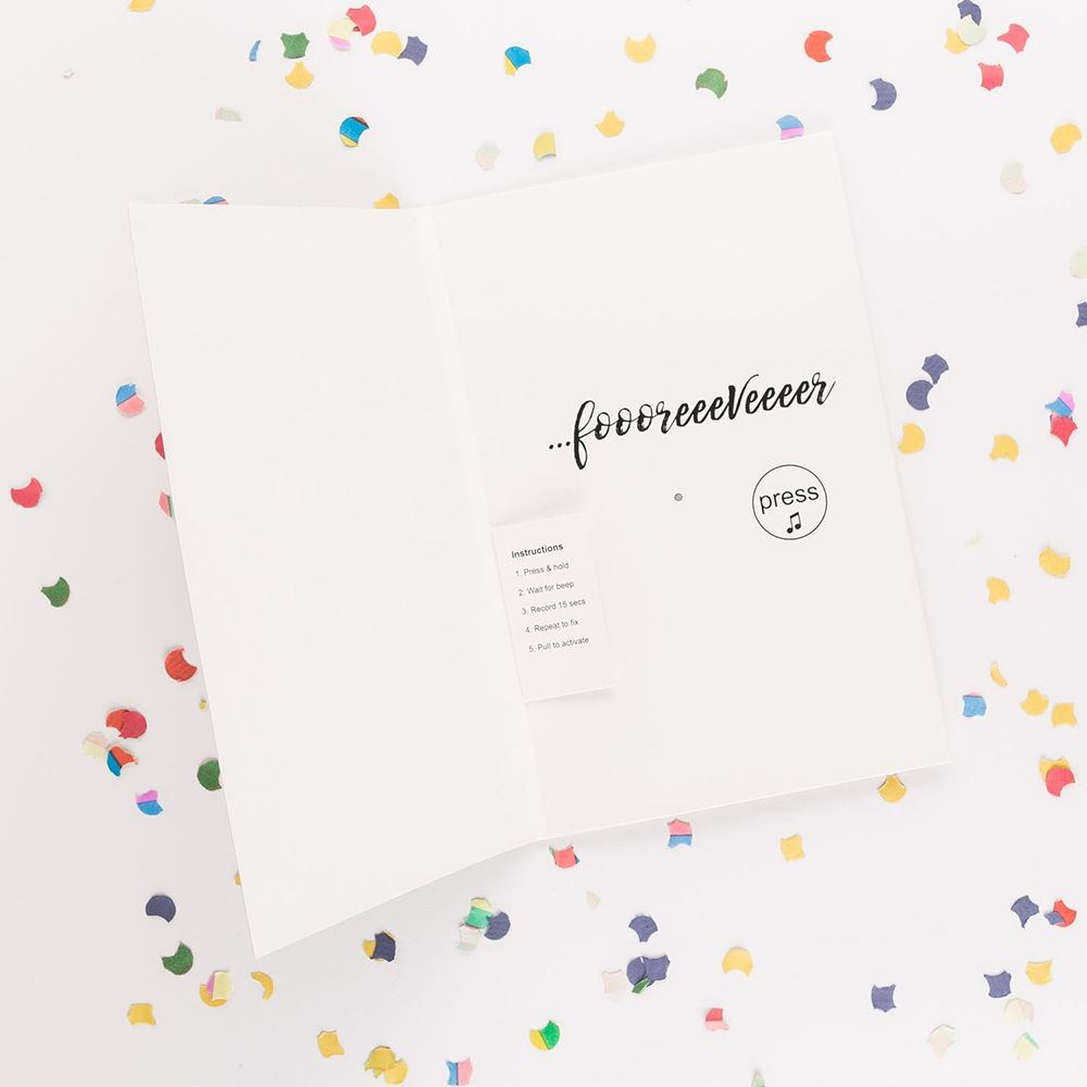 Geburtstagskarte text aufnehmen