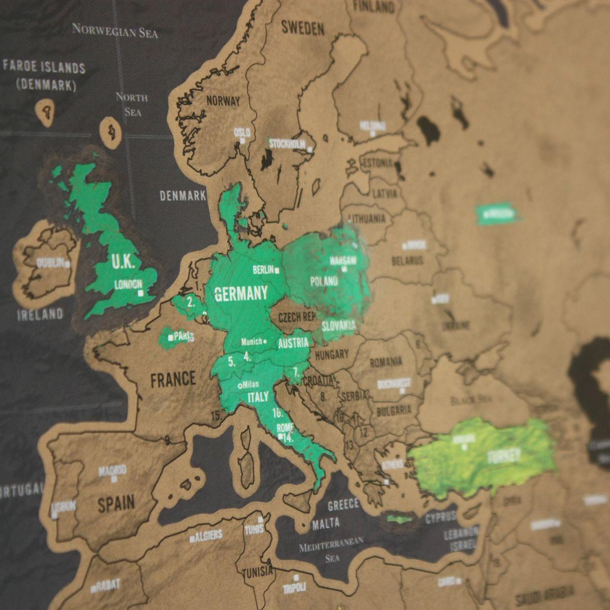 Rubbel Weltkarte Scratch Map Deluxe