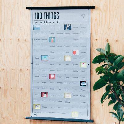 Geschenke für Bruder - Poster 100 Dinge, die du in deinem Leben noch machen musst