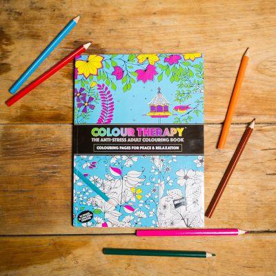 Geschenk für Freundin - Malbuch Farb-Therapie gegen Stress