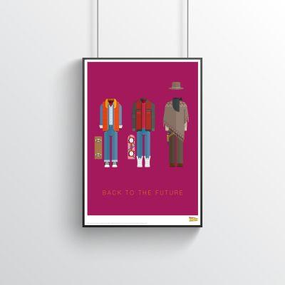 Poster - Zurück in die Zukunft - Filmposter mit Kostümen
