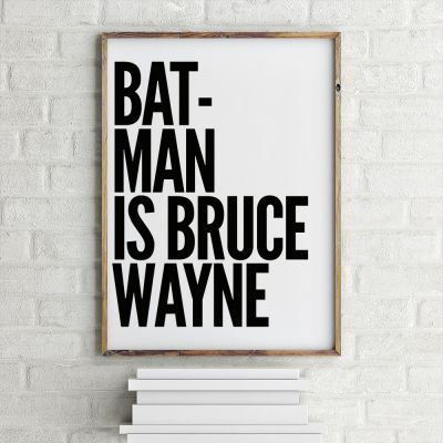 Poster - Poster Batman Is Bruce Wayne by MottosPrint
