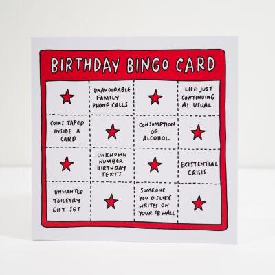 Geburtstagsgeschenk zum 30. - Geburtstagskarte Birthday Bingo
