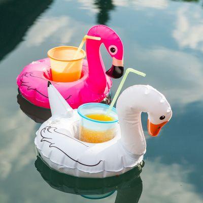 Sommer Gadgets - Schwimmende Getränkehalter Vögel 3er-Set